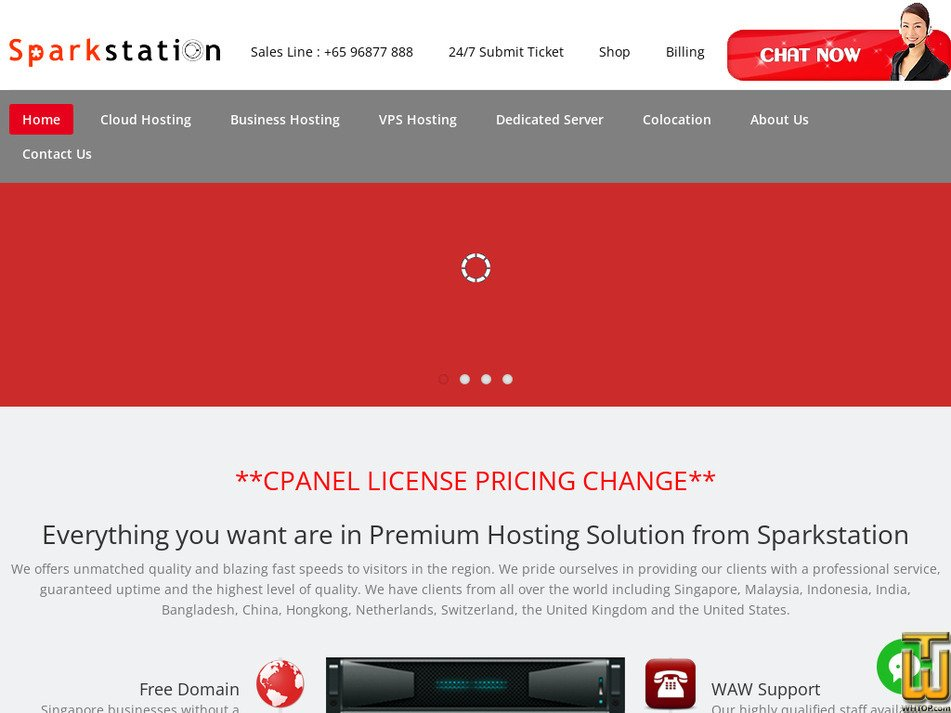 sparkstation.net Screenshot