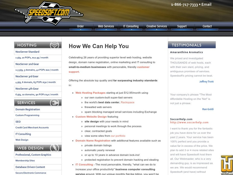 speedsoft.com Screenshot