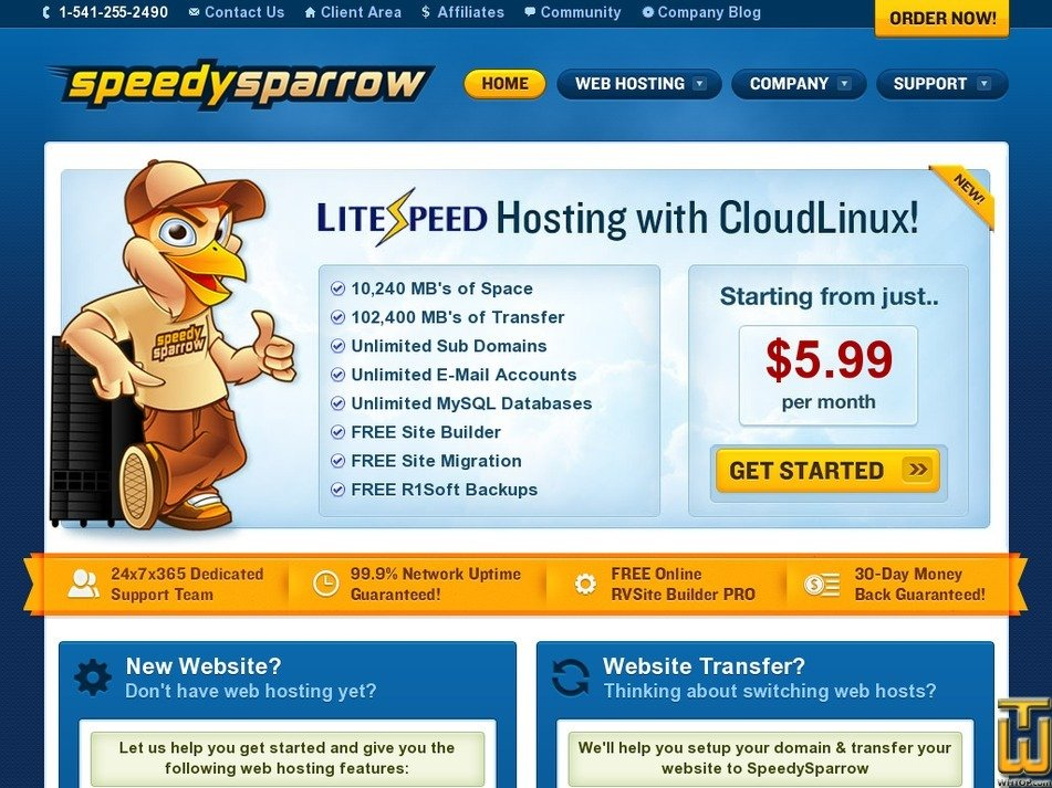speedysparrow.com Screenshot
