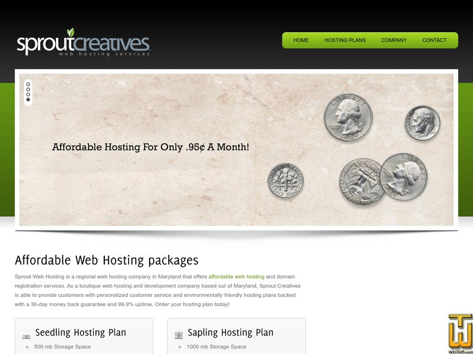 sproutwebhosting.com Screenshot