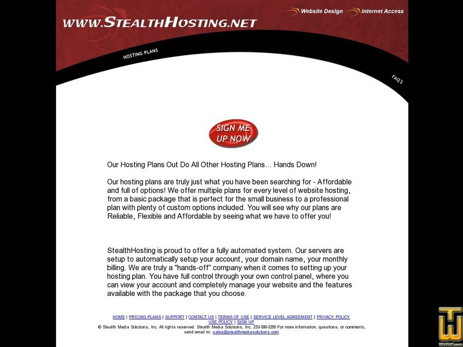 stealthhosting.net Screenshot