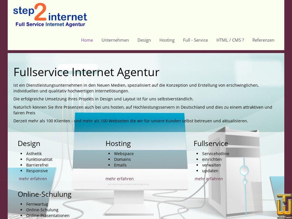 step2internet.de Screenshot