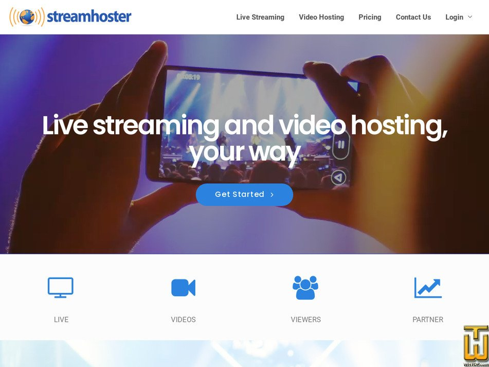 streamhoster.com Screenshot