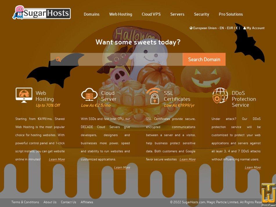 sugarhosts.com Screenshot