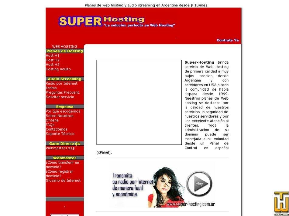 super-hosting.com.ar Screenshot