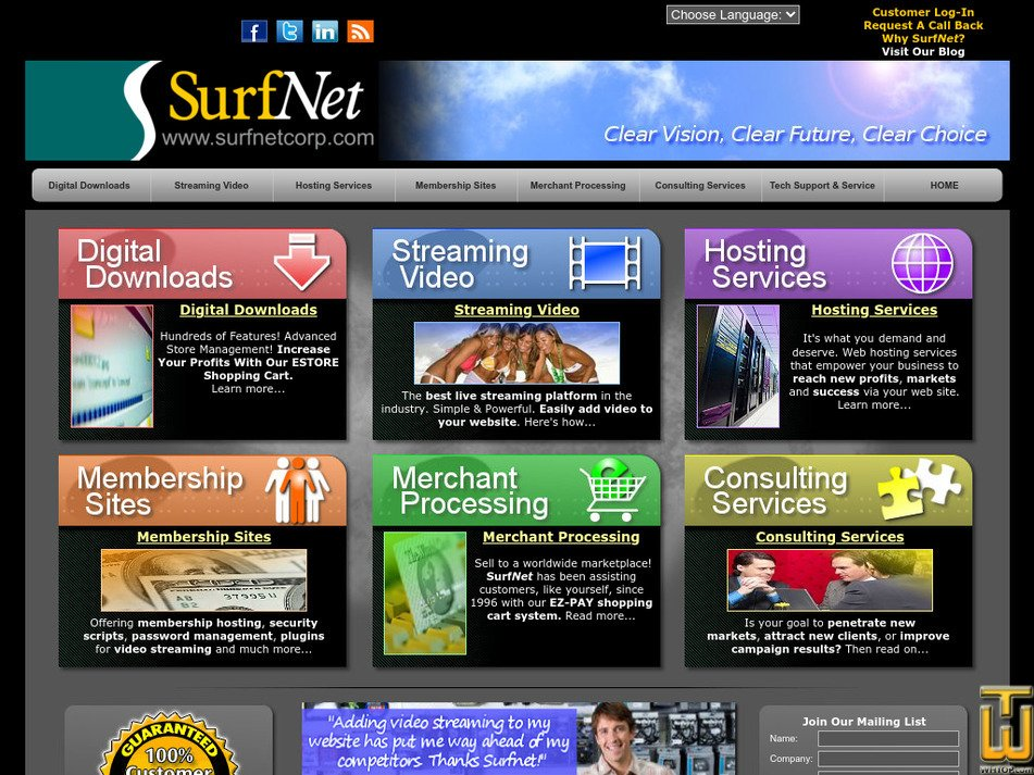 surfnetcorp.com Screenshot