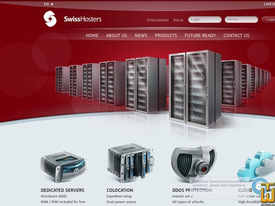 swisshosters.com Screenshot