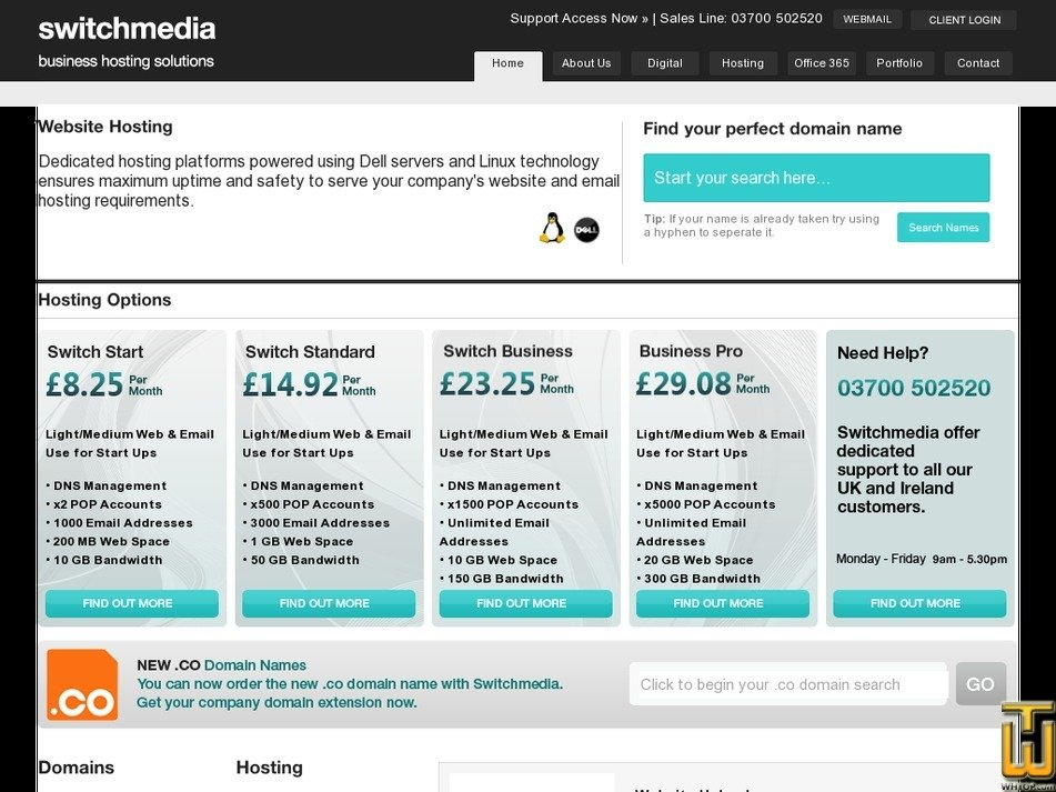switchmedia.co.uk Screenshot
