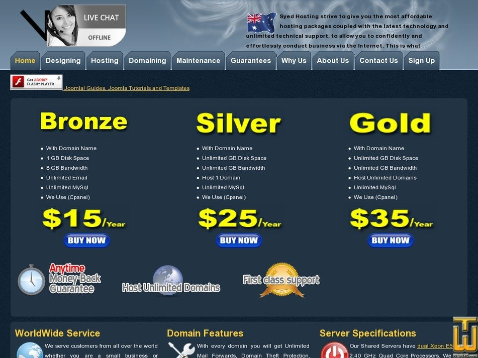 syedhosting.com.au Screenshot