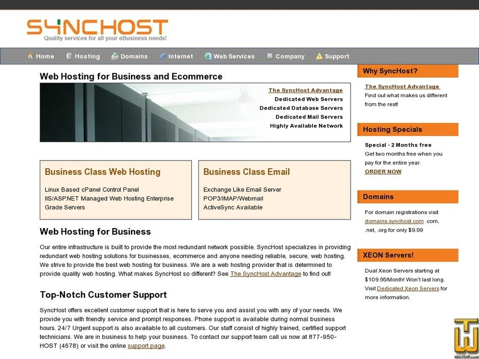 synchost.com Screenshot