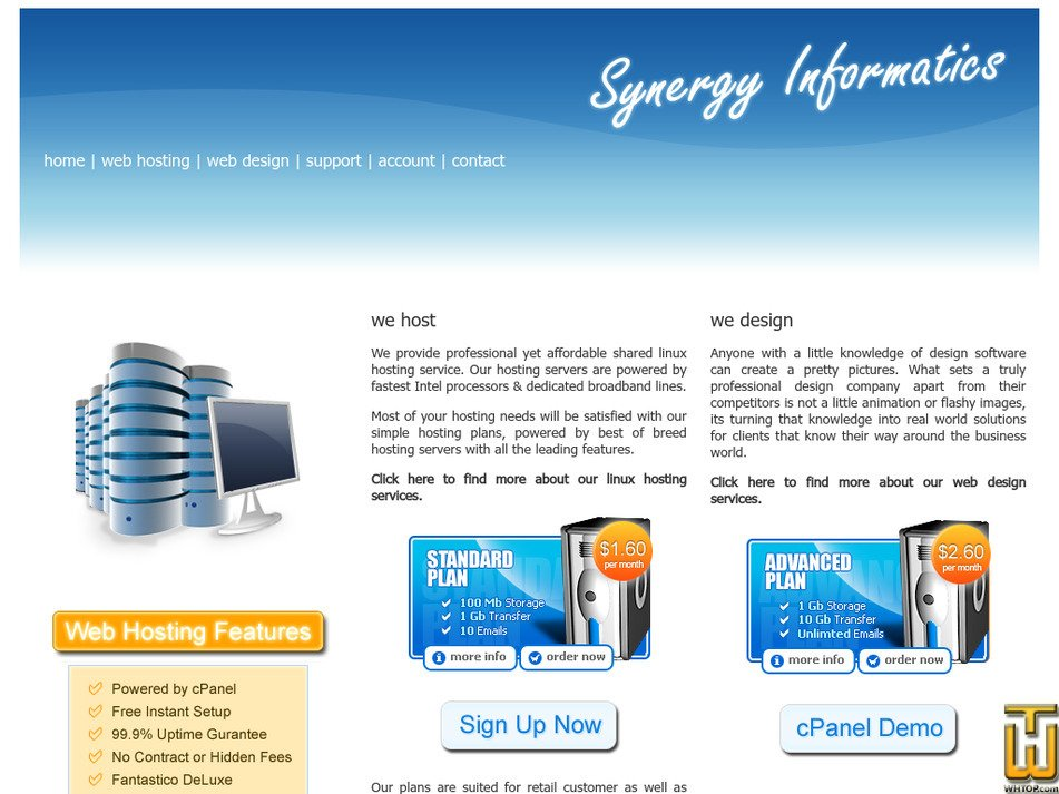 synergyinformatics.net Screenshot