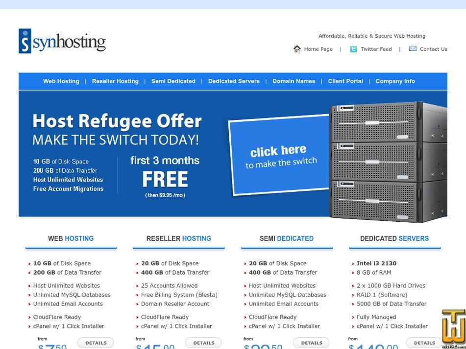 synhosting.com Screenshot