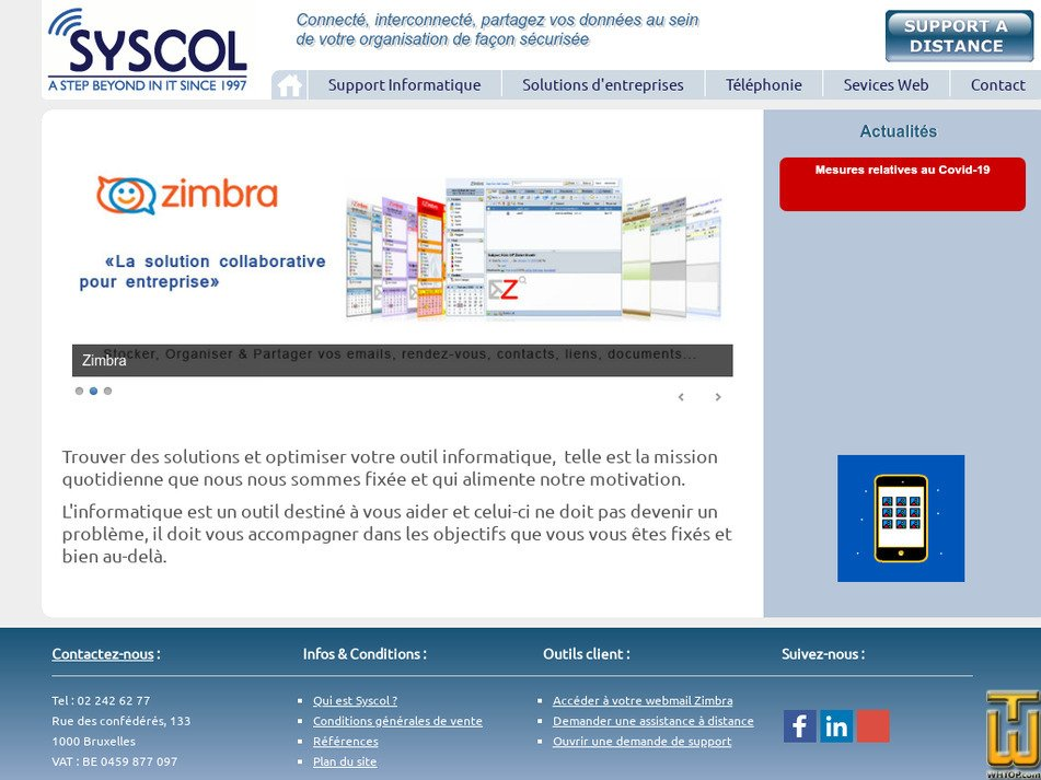 syscol.be Screenshot