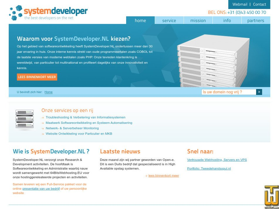 systemdeveloper.nl Screenshot