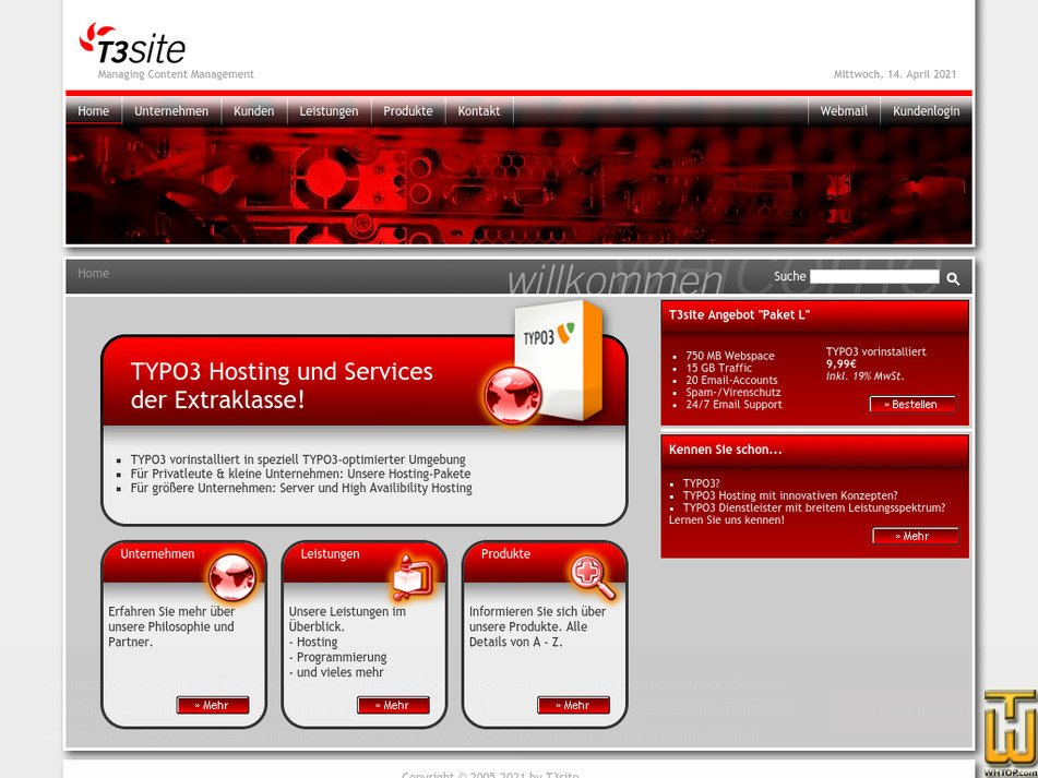t3site.com Screenshot
