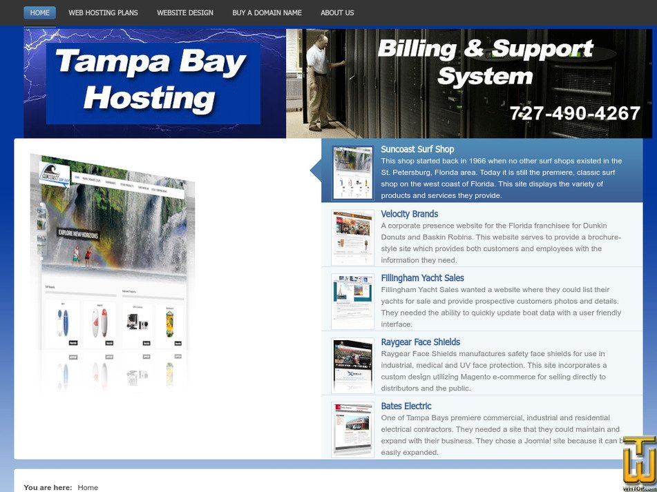 tampabayhosting.net Screenshot