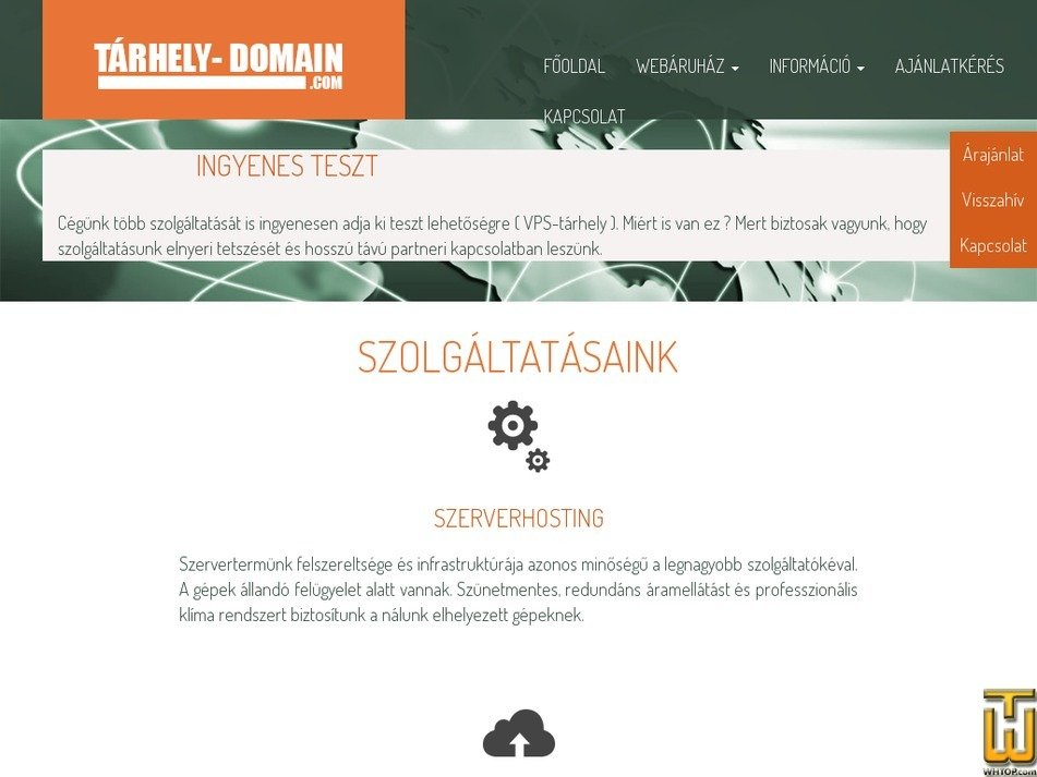 tarhely-domain.com Screenshot