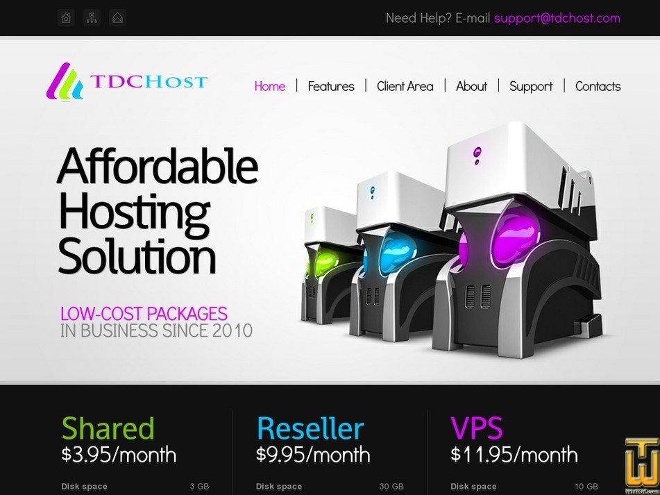 tdchost.com Screenshot