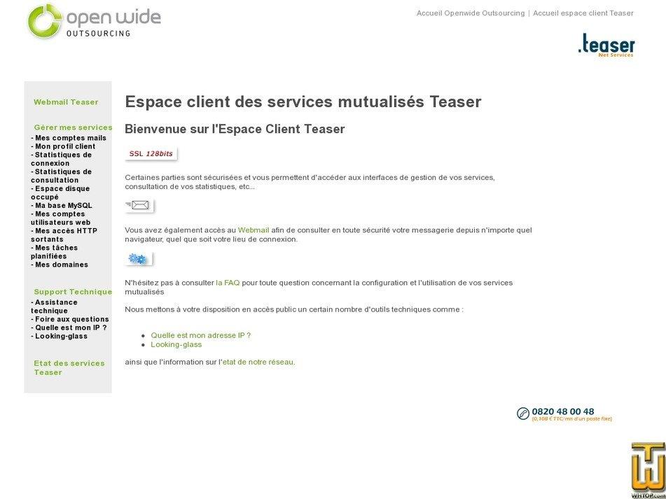 teaser.fr Screenshot