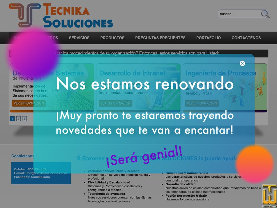 tecnikasoluciones.com Screenshot