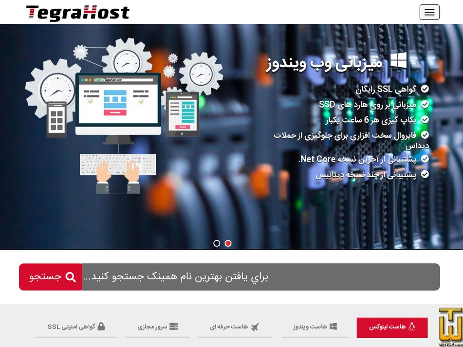 tegrahost.com Screenshot