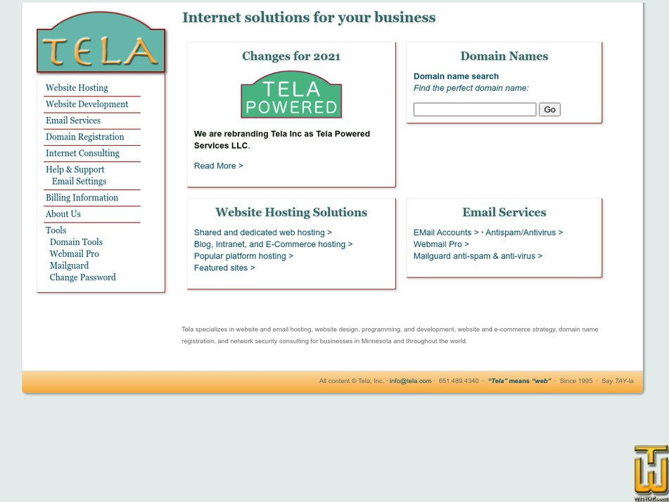 tela.com Screenshot