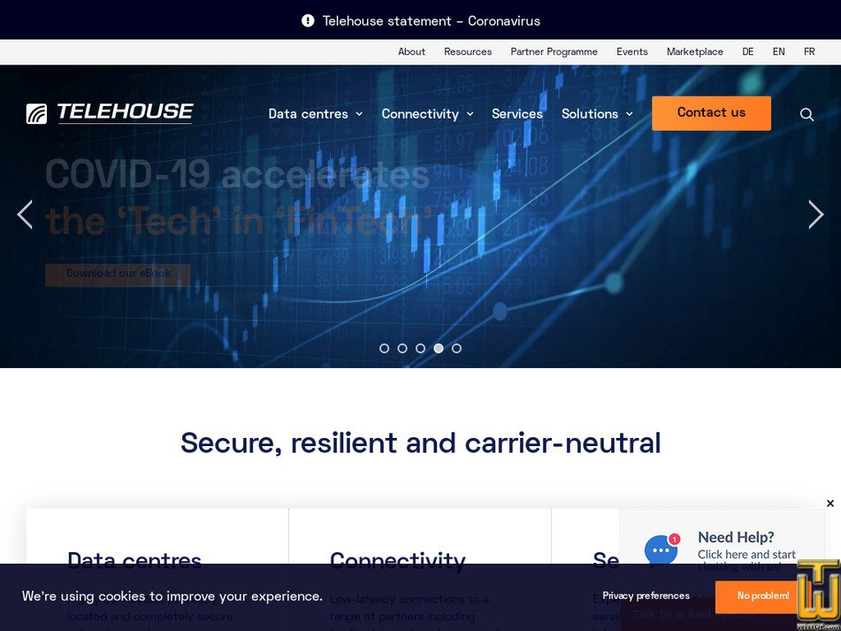 telehouse.net Screenshot