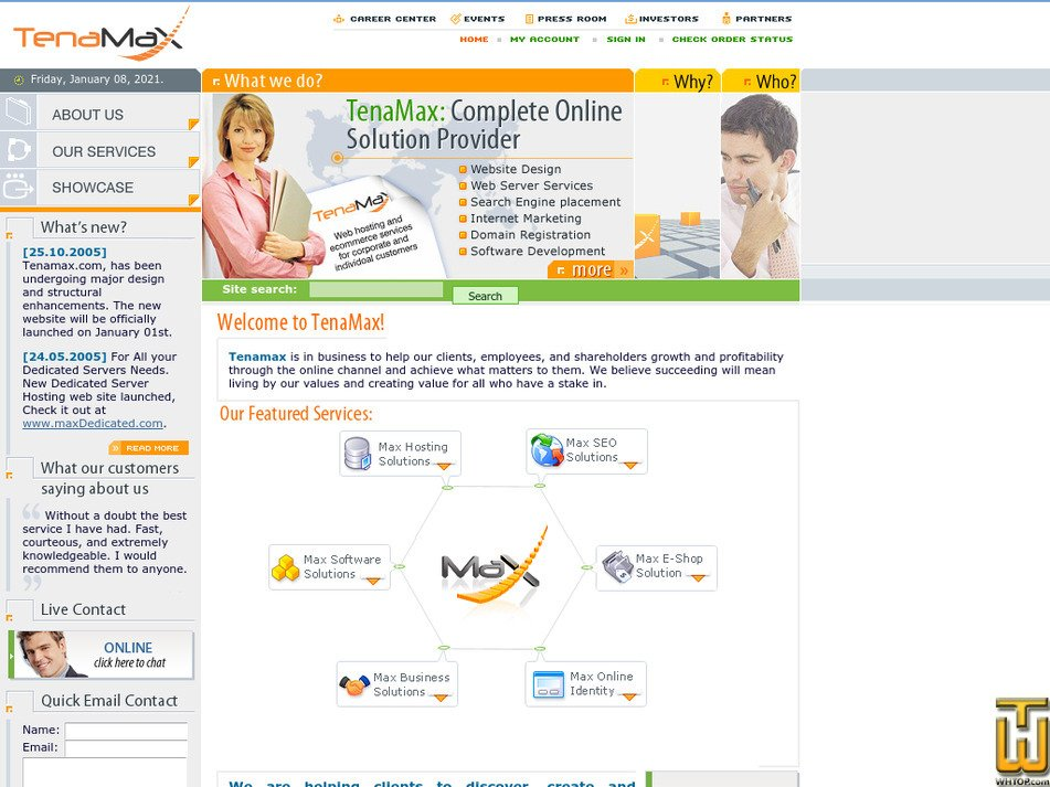 tenamax.com Screenshot