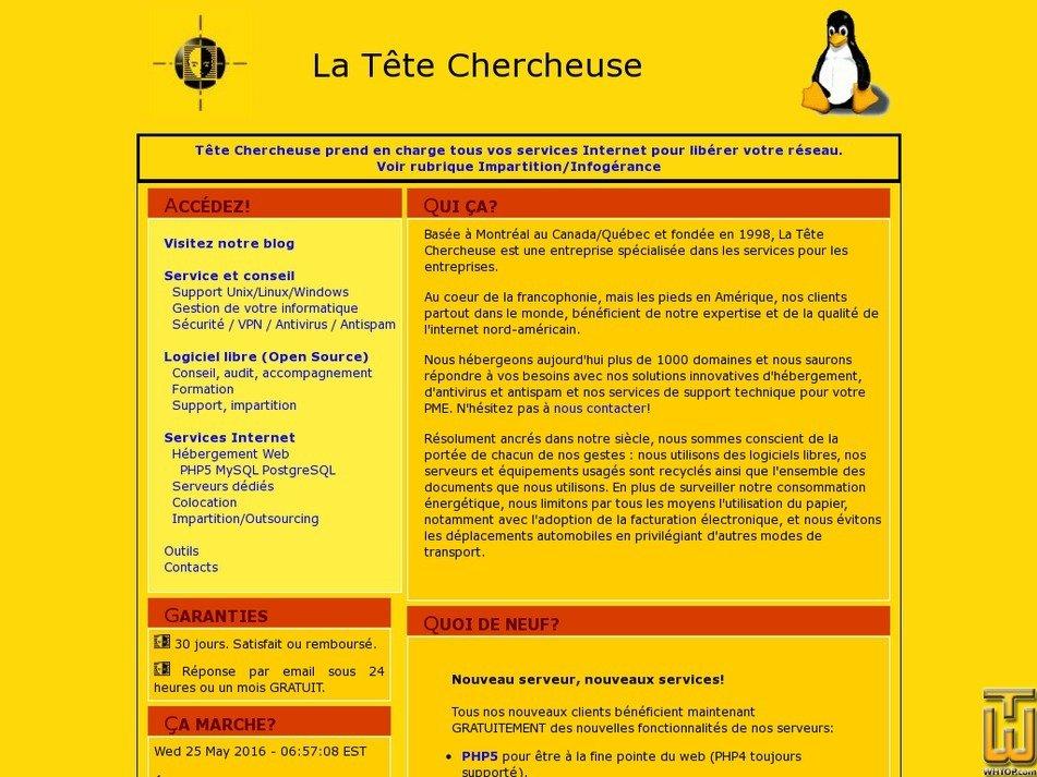 tetechercheuse.ca Screenshot