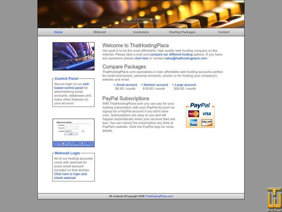 thathostingplace.com Screenshot