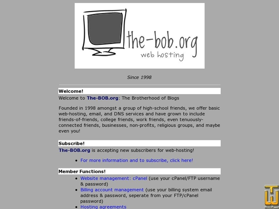 the-bob.org Screenshot
