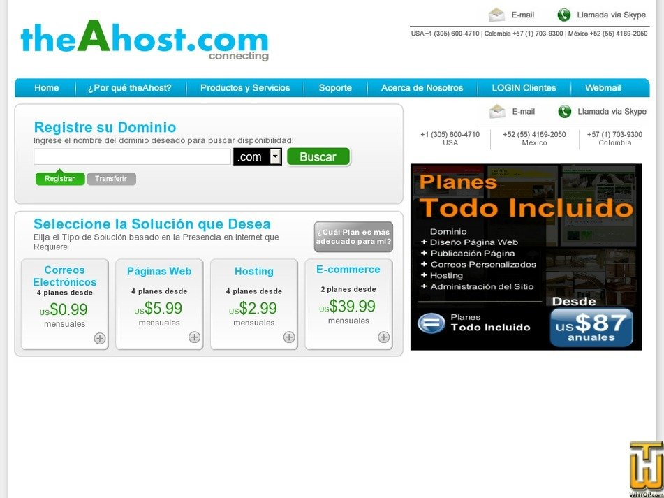 theahost.com Screenshot
