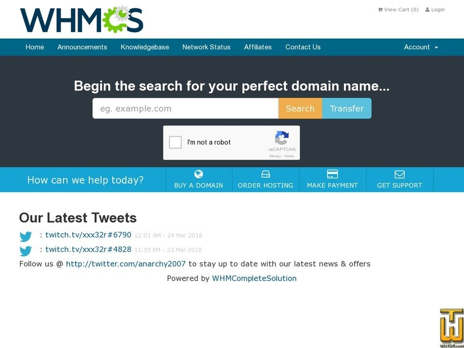 thehostingdoctor.com Screenshot