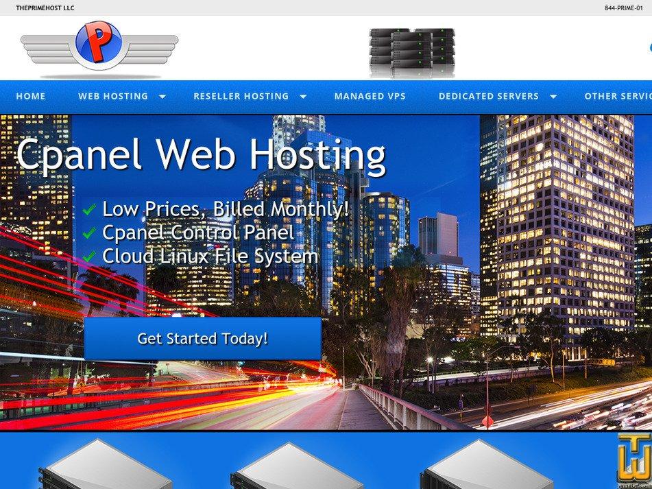 theprimehost.com Screenshot