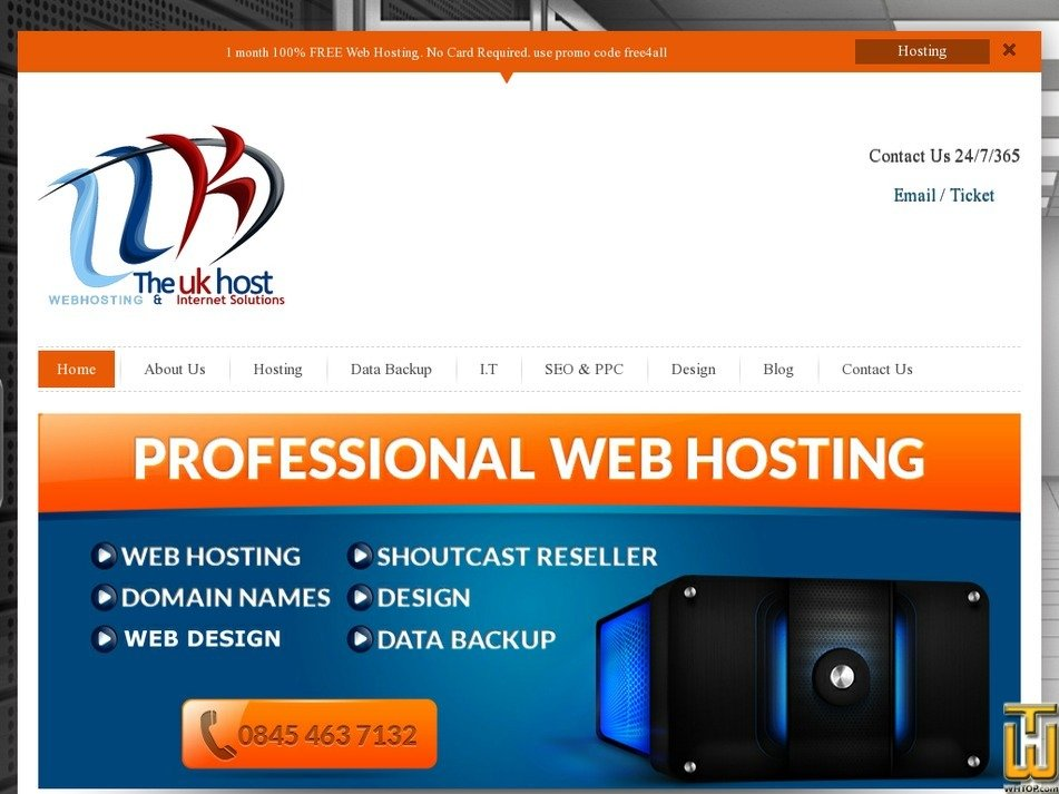 theukhost.co.uk Screenshot