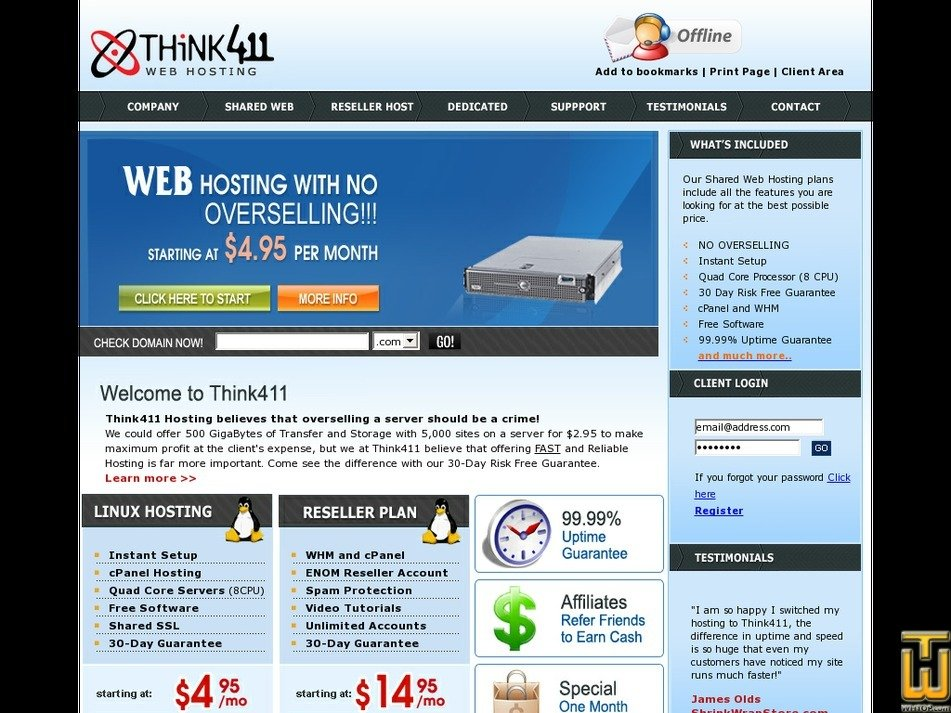 think411.com Screenshot