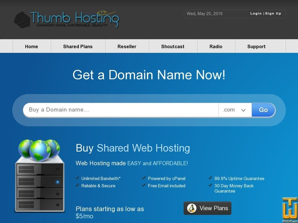 thumbhosting.org Screenshot