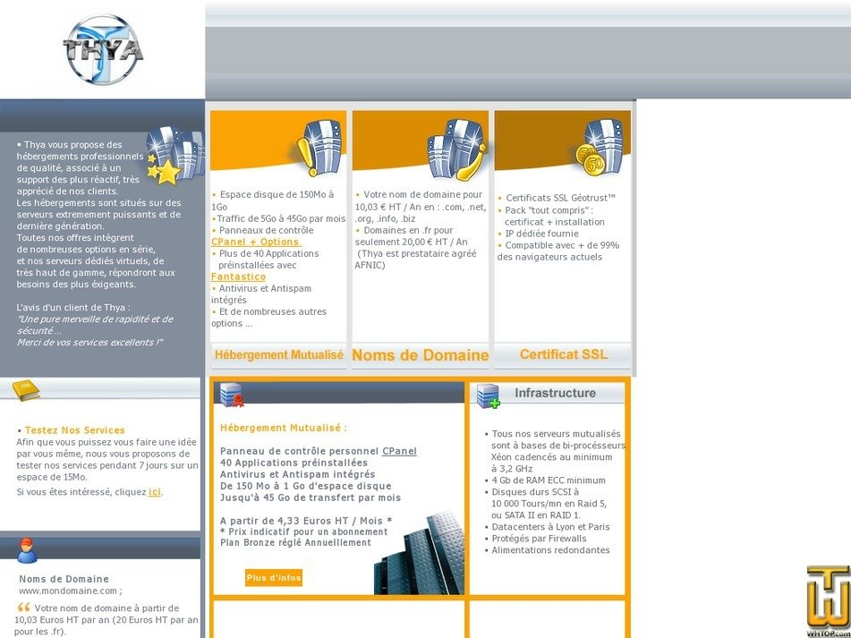 thya.net Screenshot
