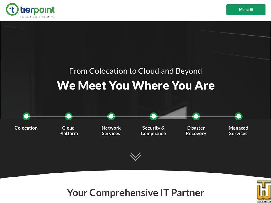 tierpoint.com Screenshot