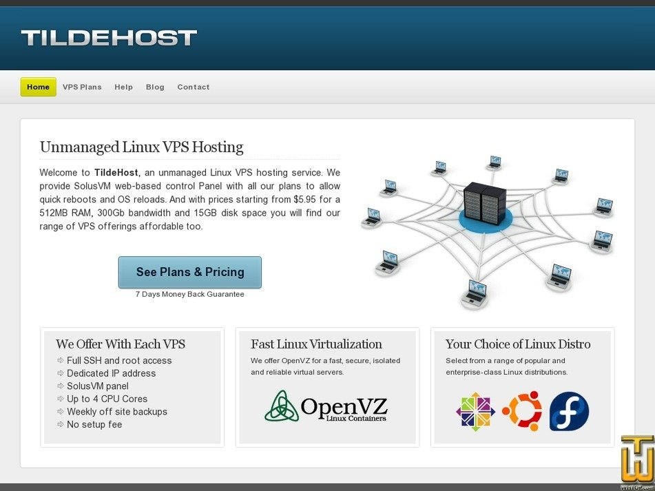 tildehost.com Screenshot