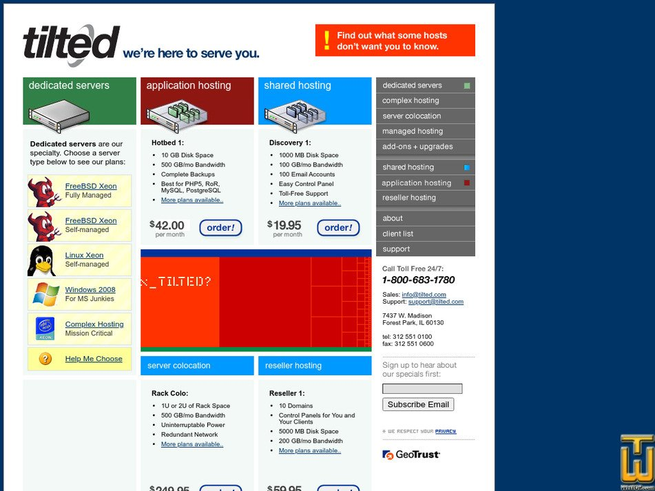 tilted.com Screenshot