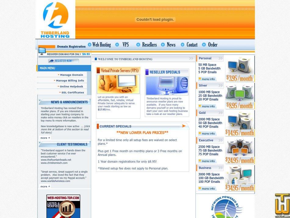 timberlandhosting.com Screenshot