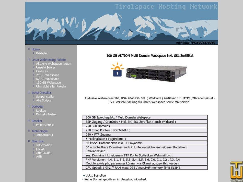 tirolspace.at Screenshot