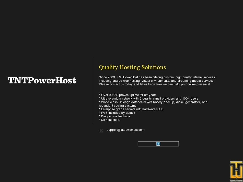 tntpowerhost.com Screenshot