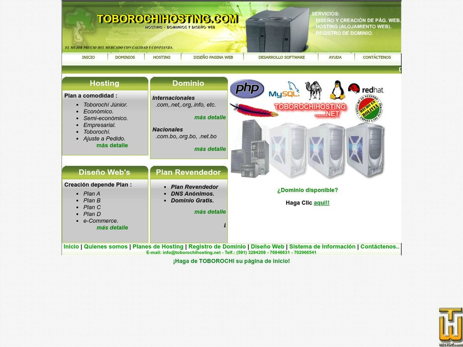 toborochihosting.com Screenshot