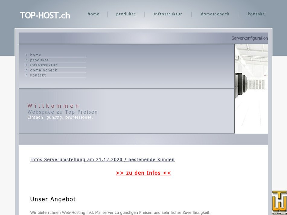 top-host.ch Screenshot