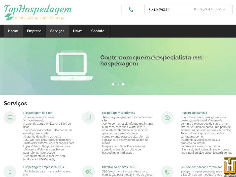 tophospedagem.com.br Screenshot