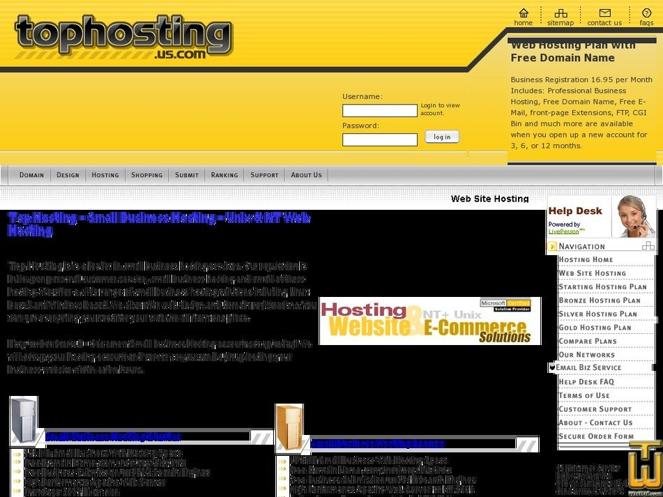 tophosting.us.com Screenshot
