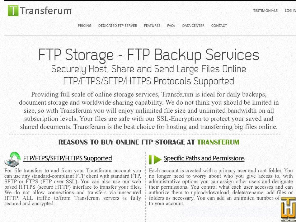 transferum.com Screenshot