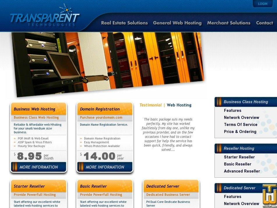 transparent-webhosting.com Screenshot